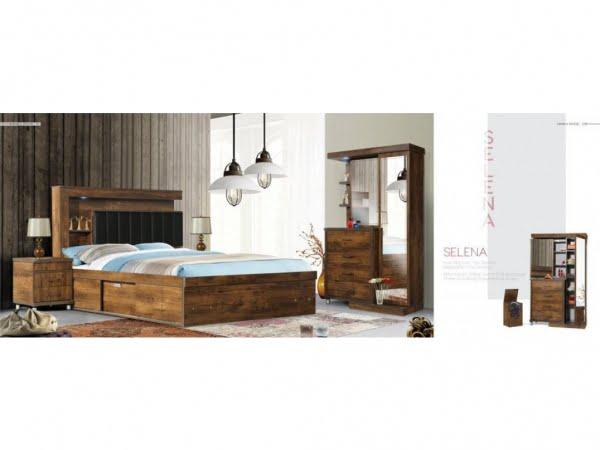 تخت و سرویس خواب ارزان و شیک مدل سلنا- خوابستان