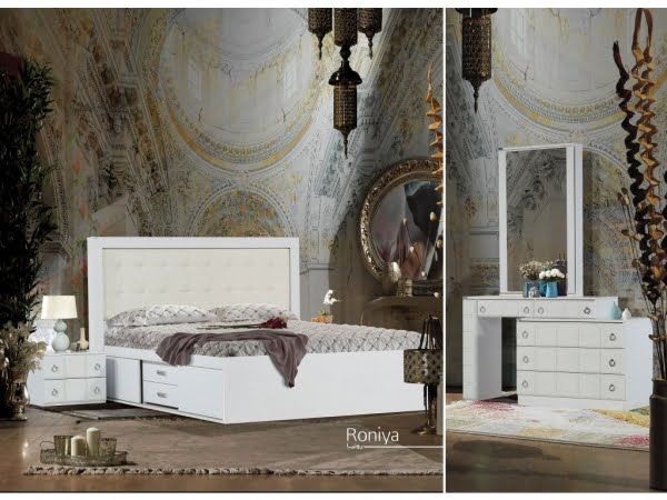 تخت و سرویس خواب مدل رونیا سفید- خوابستان
