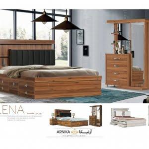 تخت و سرویس خواب مدل سلنا- خوابستان