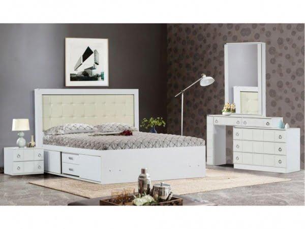 2 14 600x450 - سرویس خواب عروس داماد؛ مدل رونیا سفید