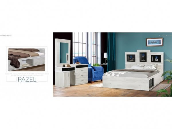 تخت و سرویس خواب مدل پازل- خوابستان