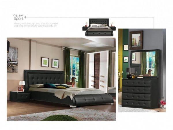 تخت و سرویس خواب مدل اسپرت مشکی- خوابستان
