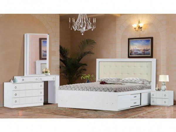 3 10 600x450 - سرویس خواب عروس داماد؛ مدل رونیا سفید