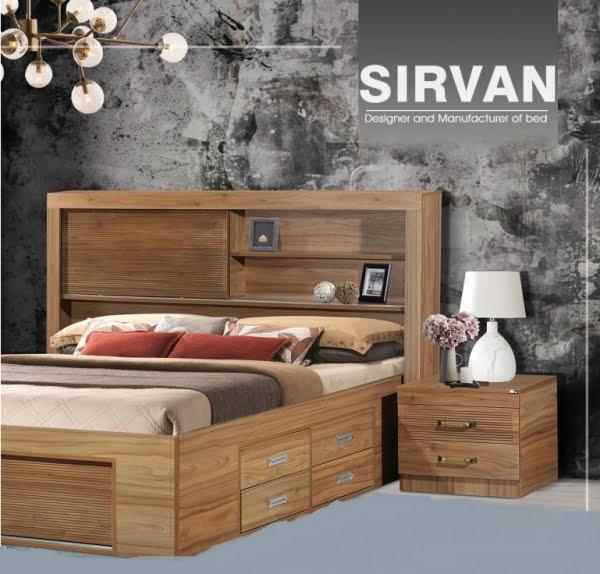 تخت و سرویس خواب مدل سیروان- خوابستان