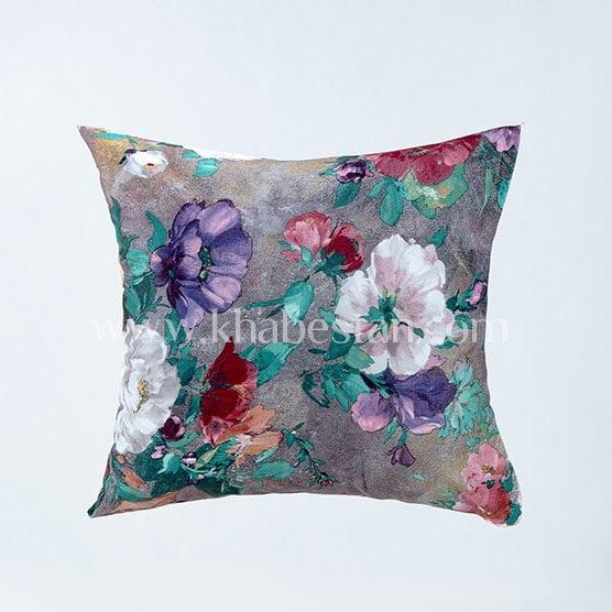 کوسن مخمل گلدار- فروشگاه کالا خواب خوابستان